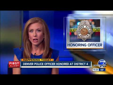 Denver Police officer honored at District 4