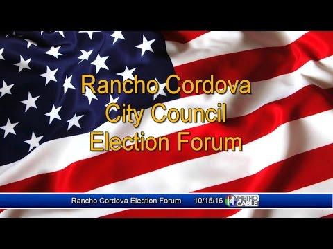 Rancho Cordova City Council Election Forum