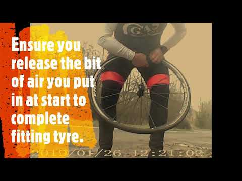 Front wheel puncture