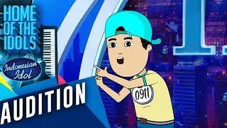 Rapper cilik ini bikin wow para juri  -  Indonesian Idol (Parodi) | Animasi Indonesia Timur
