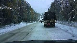 2 октября 2013г. Затор на дороге и аварии на въезде в Сосногорск
