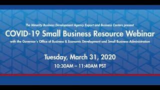 COVID-19 Small Business Resource Webinar