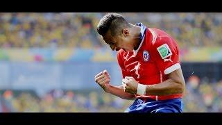 Alexis Sánchez vs Brasil (World Cup 2014) HD 720p