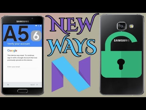 Galaxy A5 2016 Nougat How To Skip Google Account Remove Frp (SM-A510) Android 7 0