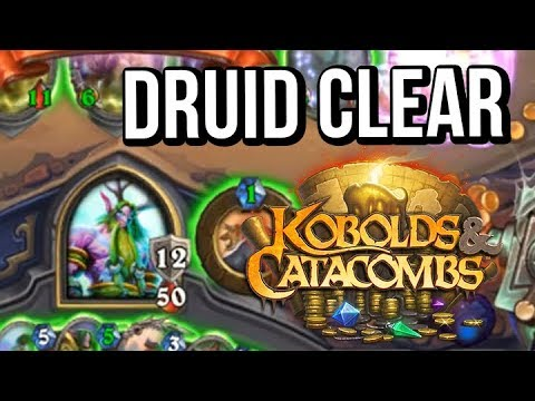 EZ GG - Druid Dungeon Clear! (Hearthstone Kobolds & Catacombs) - NEW EXPANSION