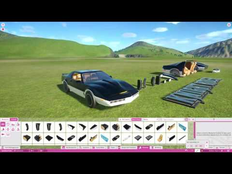 Planet Coaster - Knight Rider DLC Pack All Scenery Pieces!! |