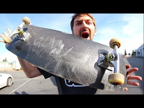 WILL THE 3-PLY CARBON FIBER BOARD SNAP?! | YOU MAKE IT WE SKATE IT EP 162