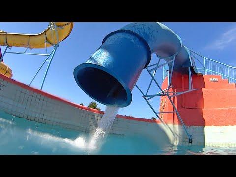Strange Drop Water Slide at Veneza Water Park