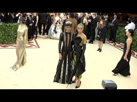 Cara Delevingne and Adwoa Aboah at the 2018 MET Gala
