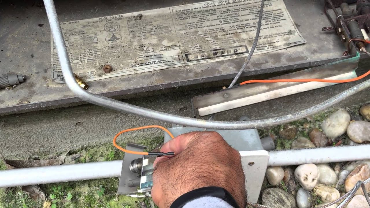 Hayward Millivolt Pool Heater Part 3 Thermopile Pilot Assembly For Furnace Wiring Prep Caution 1080p Hd