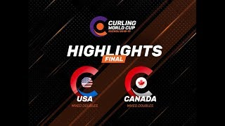 United States v Canada - Mixed Doubles Final - Highlights - Curling World Cup First Leg – Suzhou
