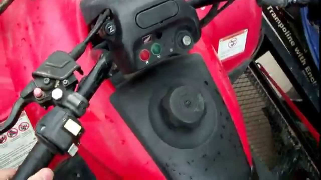 How To Get Your Honda Recon 250 Into Reverse - YouTube