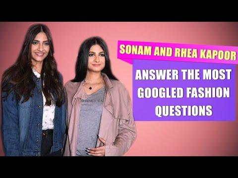 Sonam Kapoor and Rhea Kapoor answer the most googled fashion questions | Fashion | Pinkvilla