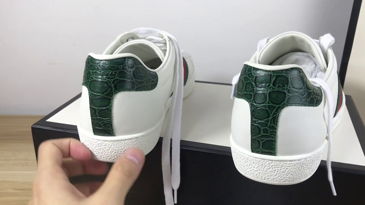 17a145e995eaa6 GUCCI ACE LEATHER SNEAKER FOR FEMALE UNBOXING AND REVIEW BY LORDKICKS ROY