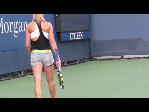 Eugenie Bouchard Practice at the 2014 Us Open (2)