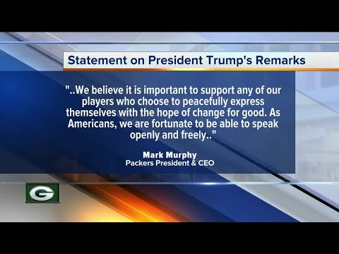 Green Bay Packers President Mark Murphy responds to President Trump's comments on the NFL