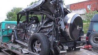 Car crash № 2 Июль Mercedes Benz Gelandewagen  ¦ Аварии Мерседес Гелендваген Гелик