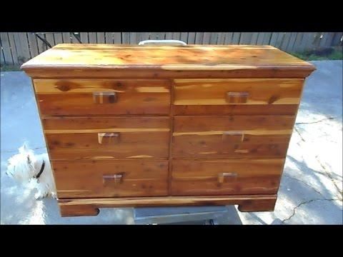 Restoration of a Cedar Dresser or Lac Bugs on Steroids!