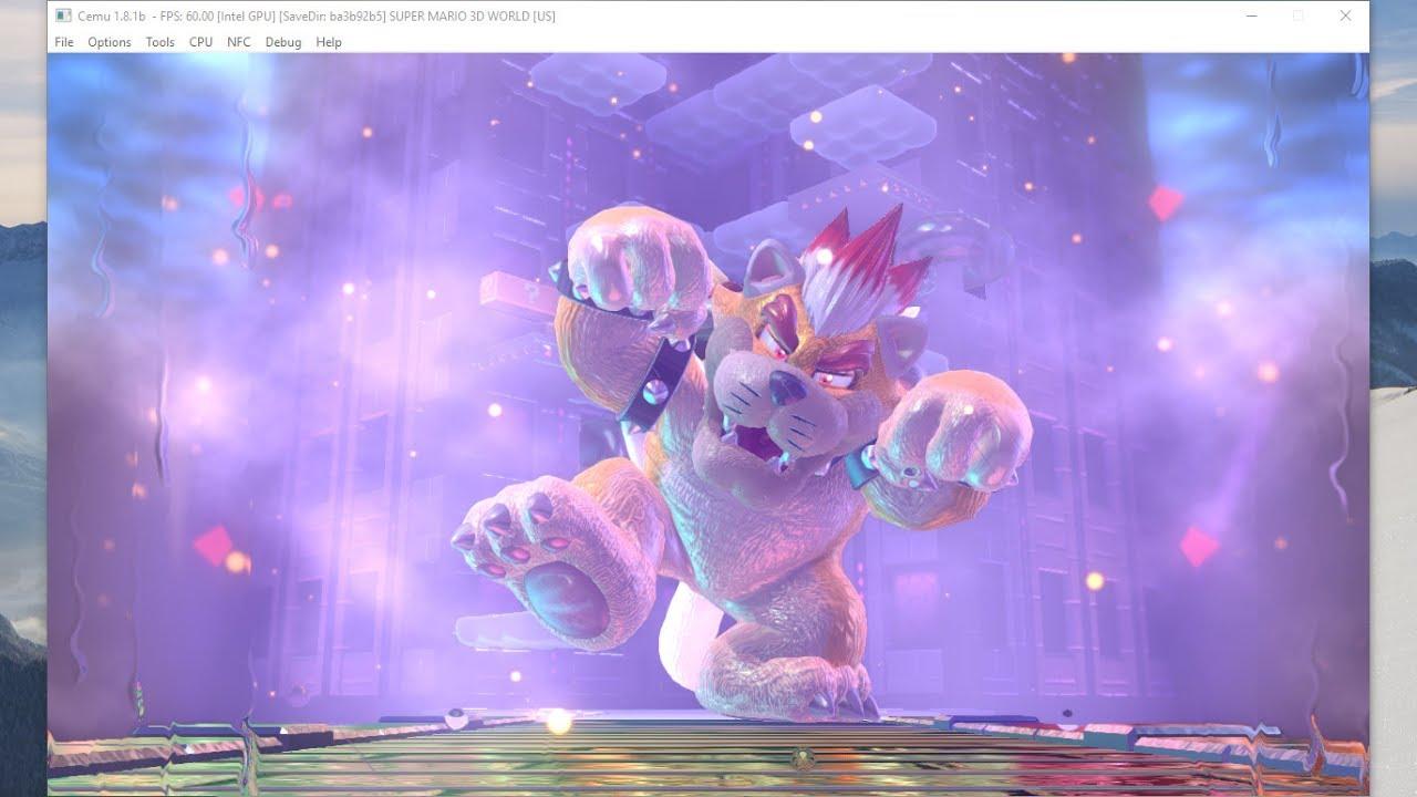 Super Mario 3D World [60 FPS] (Final Boss) | Cemu 1 8 1 (Intel GPU) by  FaithfulYoshi