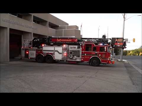 Mississauga Fire P101, *NEW* A101 & C108 Responding