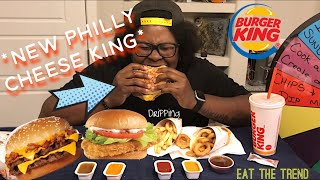 Burger King MUKBANG | *NEW FOOD ALERT** | FOOD REVIEW | Eat the Trend Ep.2