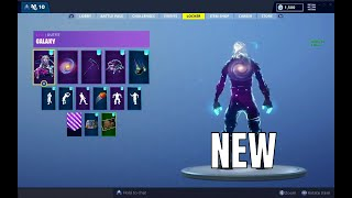 GALACTIC DISC *GALAXY SKIN BACKBLING* ON ALL OF MY SKINS (Fortnite Battle Royale)
