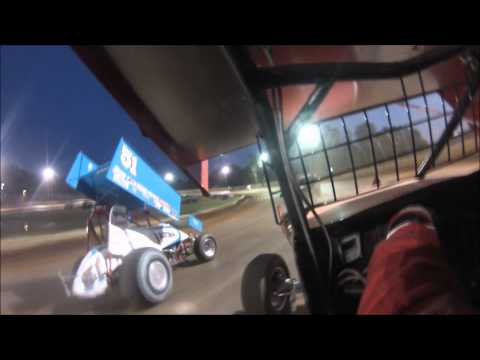 USCS Sprint Cars Jim Perricone Heat Race 07/17/15