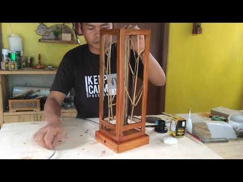IDE BISNIS !!! Hanya dari Bambu, Membuat Lampu Hias Meja Super Unik