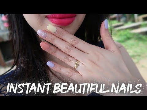 HOW TO APPLY PRESS ON NAILS IN 5 MINUTES | DASHING DIVA NAILS | FLIGHT ATTENDANT VLOG