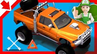 Monster Ttruck. Handy Andy makes a monster truck - Little Smart Kids