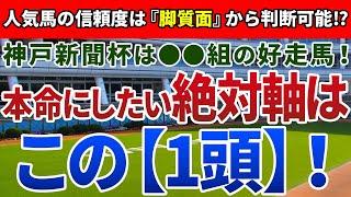 神戸新聞杯2021【絶対軸1頭】公開!鉄板級の軸馬に共通する『実績』とは!?データ面の後押しが強力な絶対軸はアノ馬!