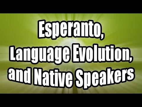 Esperanto, Language Evolution, and Native Speakers