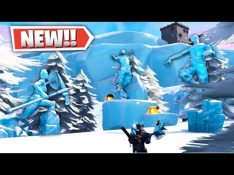 NEW FORTNITE SNOW BIOME LOCATIONS & POI + PLANE SPAWNS! (*UNDERWATER TOWN*)