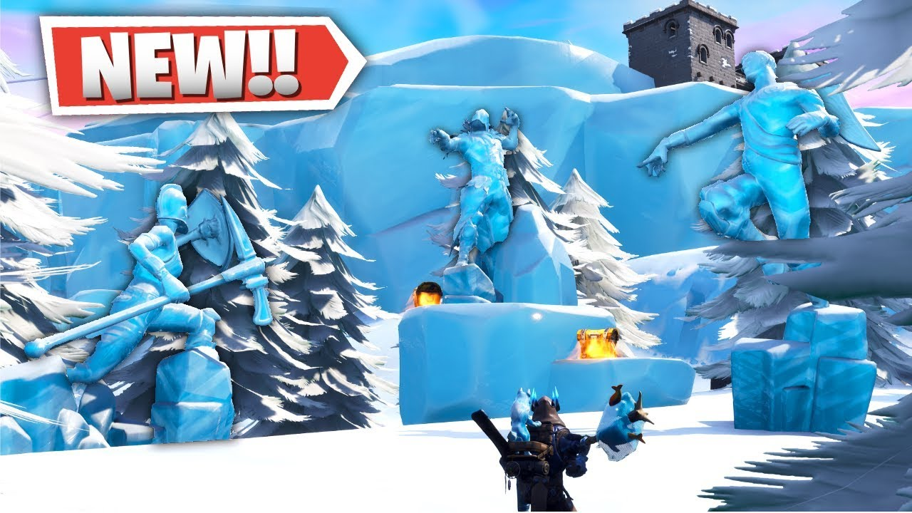 New Fortnite Snow Biome Locations Poi Plane Spawns Underwater