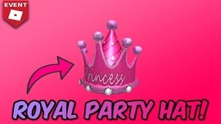 *NEW* HOW TO GET THE ROYAL PARTY HAT! *EASY* (Roblox Skating Rink)