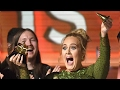 adele takes home album of the year praises beyonce at 2017 grammy awards