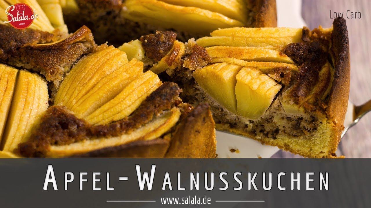 Apfel Walnusskuchen Rezept Low Carb Ohne Zucker Ohne Mehl Glutenfrei