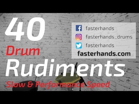 40 Drum Rudiments | Percussive Arts Society PAS