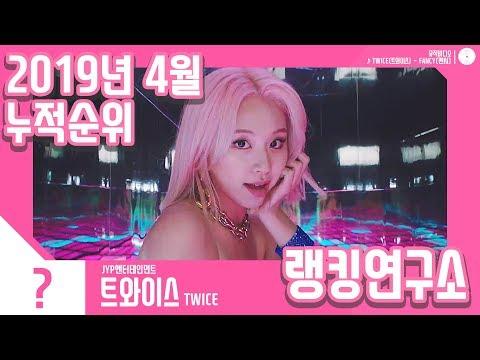 [랭킹연구소] 2019년 4월 걸그룹 누적순위 (여자아이돌 랭킹) | K-POP IDOL Girl Group Chart (April Brand Total)