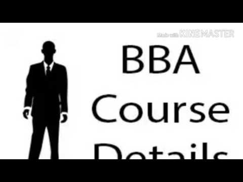About BBA course.