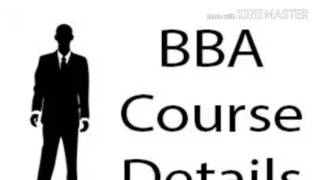 about bba course