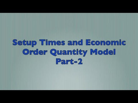 Setup Times and Economic Order Quantity Model - Part 2