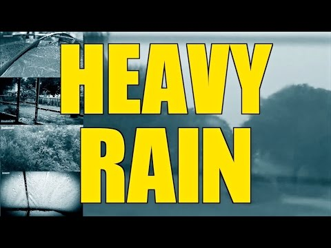Heavy Pouring Rain and Thunder | 10 Hours |