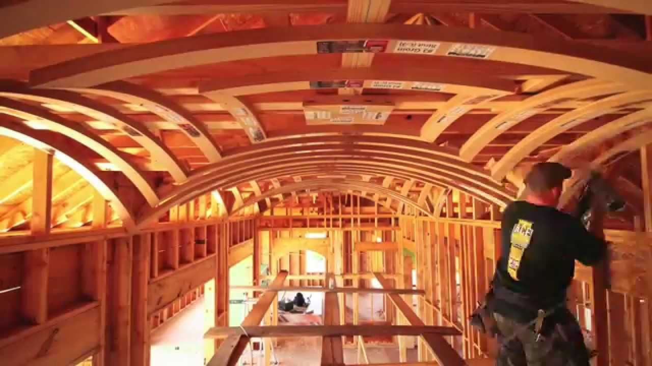 groin vault ceiling time lapse - youtube
