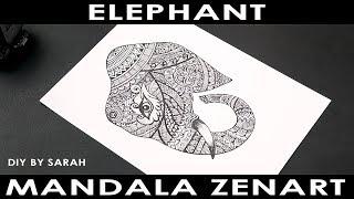 Elephant Mandala Zenart   DIY By Sarah #8