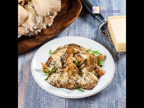 Ciuperci pleurotus la cuptor cu parmezan