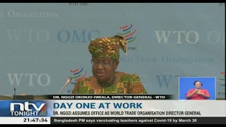 Dr. Ngozi assumes office as WTO Director General