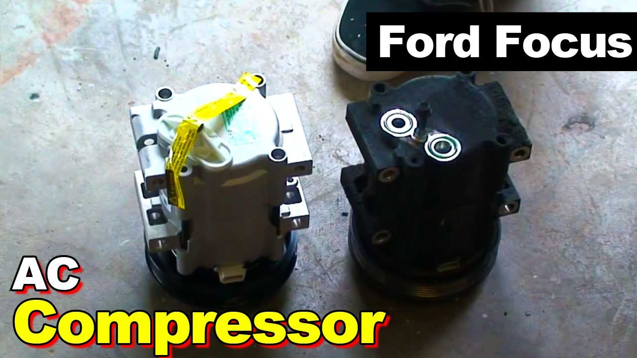 maxresdefault 2000 ford focus ac compressor youtube Refrigeration Compressor Wiring Diagram at gsmportal.co