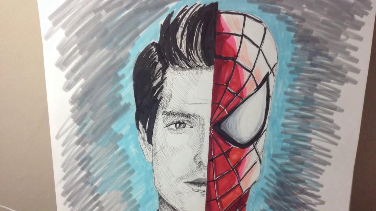 Amazing spider man 2 drawing andrew garfield
