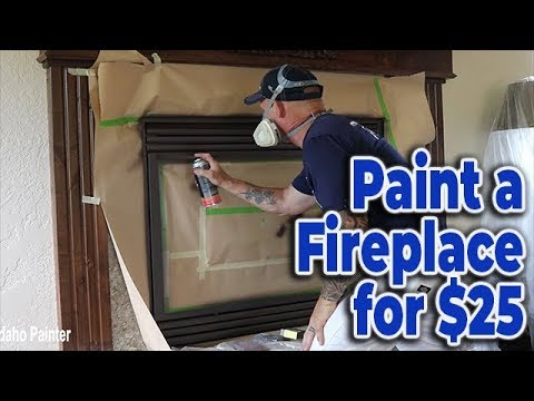Paint A Fireplace for $25.  DIY Amazing Bronze Finish